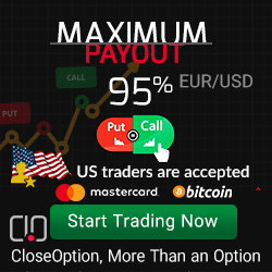Close Option Binary options brokers on USA market